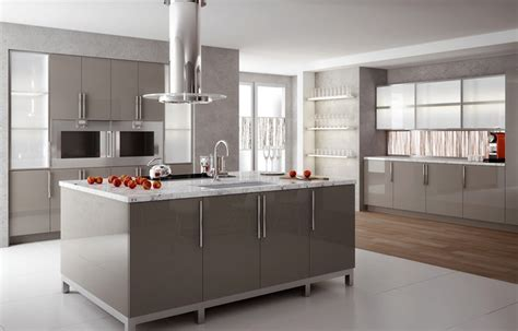 Decorating Color Schemes by High Gloss Solid Surface Kitchen Modern Kitchen