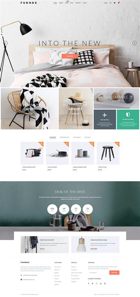 wordpress themes design inspiration furnde responsive ecommerce wordpress theme wordpress