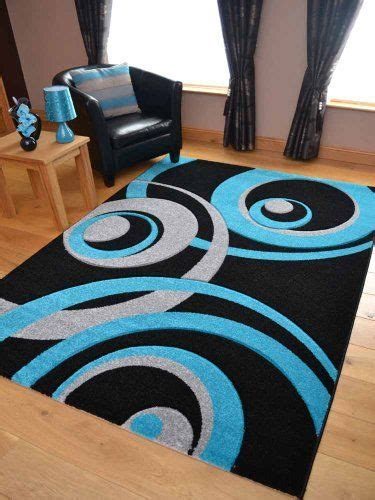 teal and black rug vibe modern black teal and silver circle design quality carved rugs available in 3 sizes