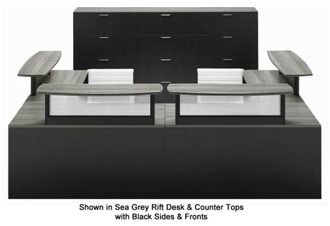 u shaped reception desk two person custom u shaped reception desk