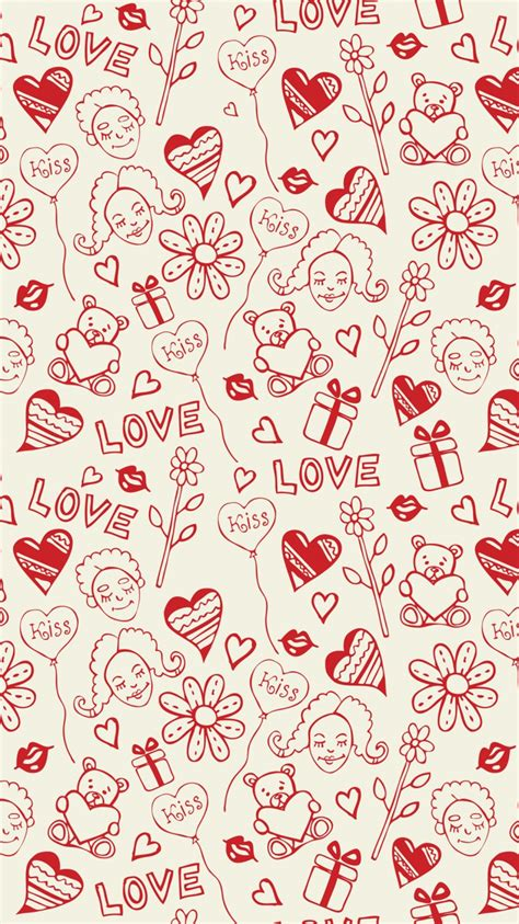 pattern background android heart background pattern flowers android wallpaper free