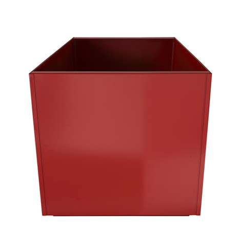 Red Square 16 Inch Metal Planter Box Extra Large Aluminum Square Metal Planter