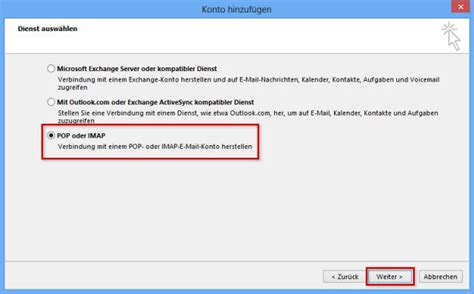 si鑒e ordinateur 1 1 hilfe center e mail konto in microsoft outlook 2013