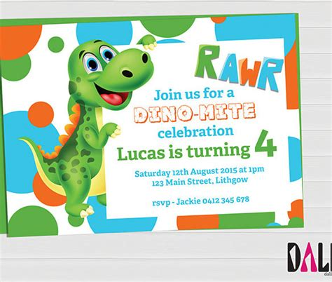 dinosaur invitation templates 15 dinosaur birthday invitations free psd vector eps