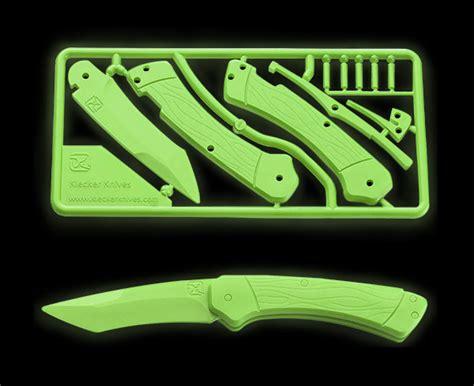 Diy Pocket Knife Model Kit Thinkgeek Popsicle Stick Butterfly Knife Template