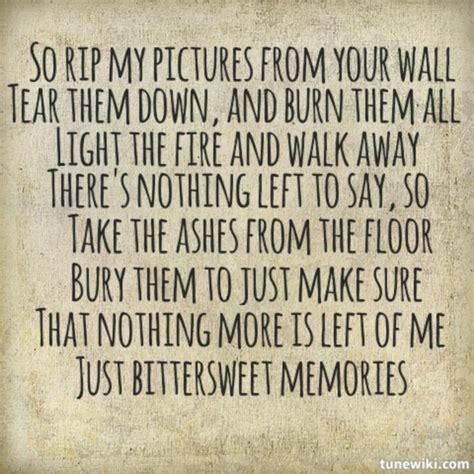 bullet for my song quotes bittersweet memories quotes quotesgram