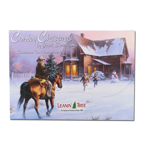 leanin tree cowboy christmas card assortment set boot barn