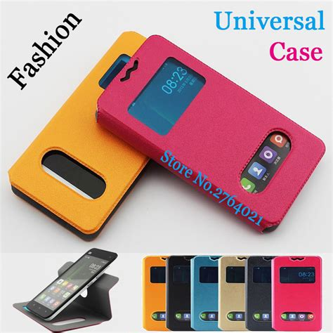 Universal Flip Single Window 5inch blackview zeta cases cover pu leather 5 0 inch for blackview zeta universal 2 window