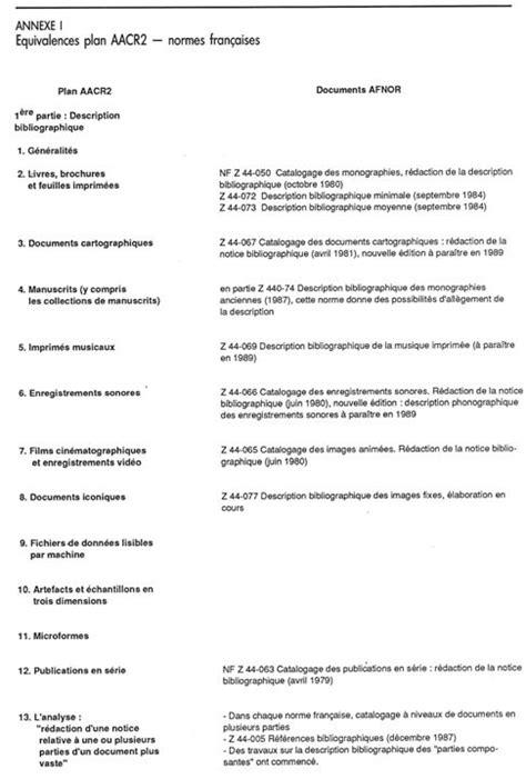 Exemple De Lettre Norme Afnor Comparaison Entre Les Normes Fran 231 Aises Et Les R 232 Gles Anglo Am 233 Ricaines De Catalogage Notice