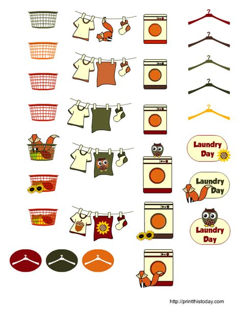 free printable laundry planner stickers free printable fall themed laundry day planner stickers