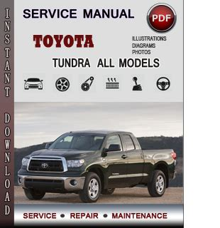toyota tundra service repair manual download info service manuals