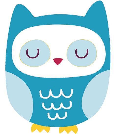 Animasi Burung Hantu Owl Bird blue owl sticker clipart best