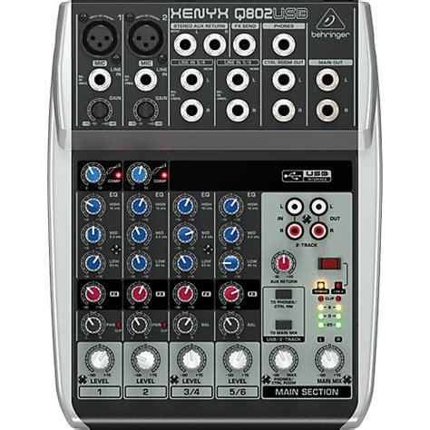 Behringer Mixer Xenyx Q802usb behringer xenyx q802usb mixer musician s friend
