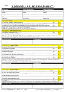 legionella risk assessment pad