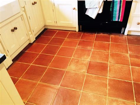 terracotta kitchen tile terracotta tiled kitchen floor cleaned and sealed in
