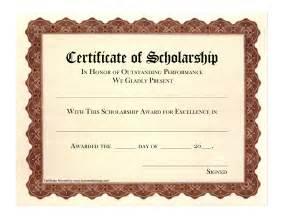 Scholarship Award Certificate Free Certificate Award Templates » Ideas Home Design
