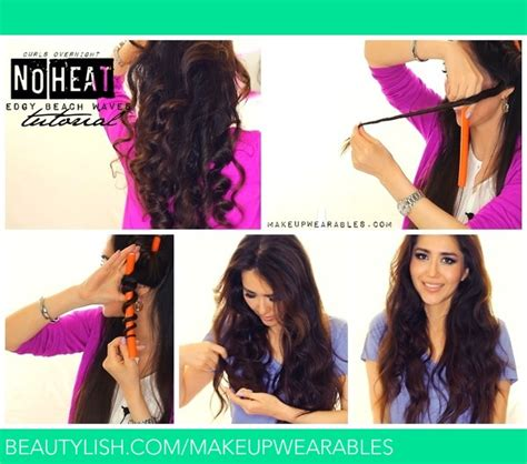 curly hairstyles for long hair no heat no heat selena gomez curls tutorial video heatless beach