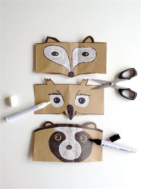 Handmade Animal Masks - diy leaf crowns and animal masks handmade