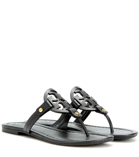 burch miller sandal burch miller leather sandals in black lyst