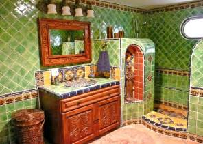 bathroom using mexican tiles tile designs pinterest