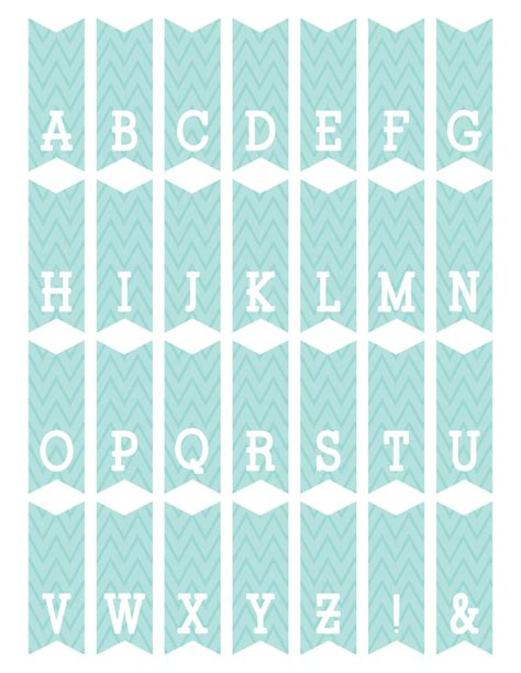 letter templates for bunting fontaholic freebie friday mini alphabet bunting