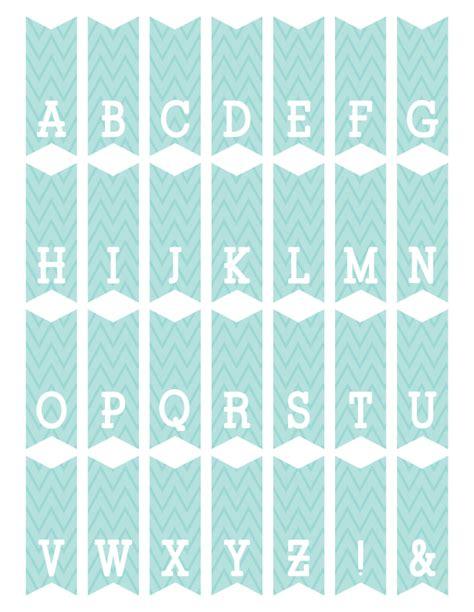Printable Mini Bunting Letters | fontaholic freebie friday mini alphabet bunting