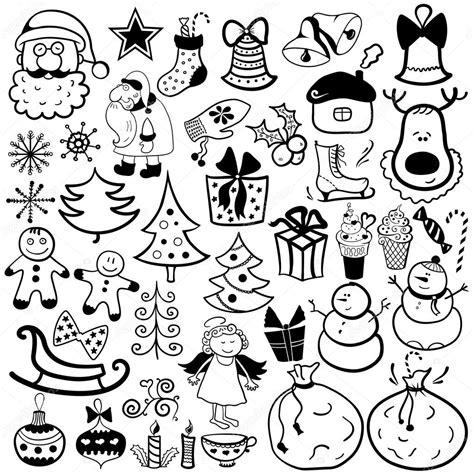imagenes de merry christmas en blanco y negro conjunto de iconos de navidad elemento blanco y negro