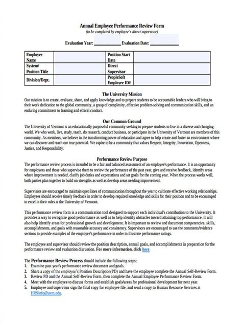 Paperlessemployee Mba by Employee Peer Review Form Yun56 Co