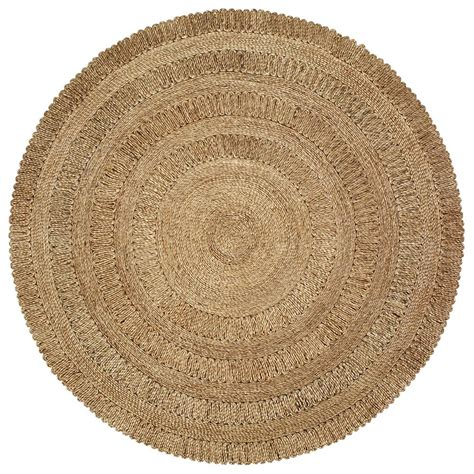 8 foot jute rug lr resources jute gray 8 ft x 8 ft indoor area rug natur12034gry80rd the home
