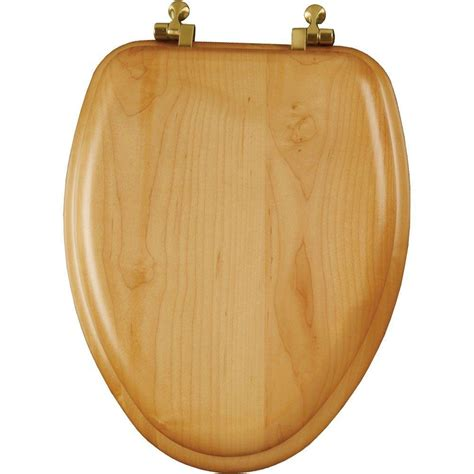 wooden toilet seats rounded  elongated natural