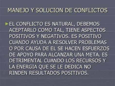 solucion de conflictos en nios manejo y solucion de conflictos