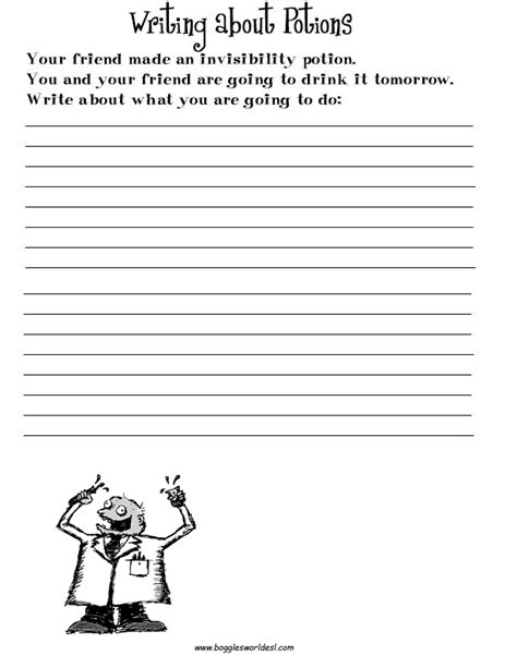 printable writing worksheets for grade 4 esl creative writing worksheets