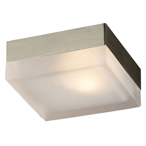 satin nickel flush mount ceiling light plc lighting flush mount 1 light satin nickel ceiling