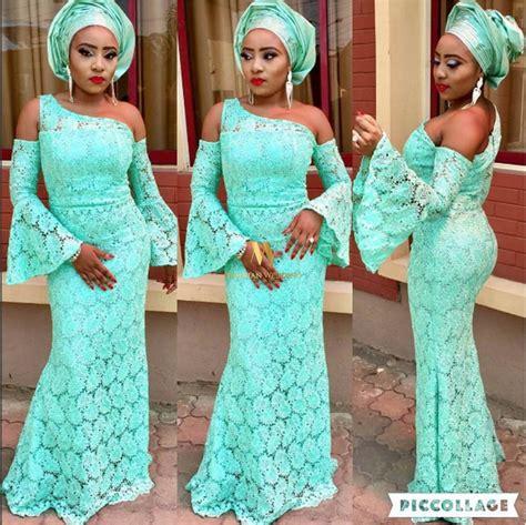 mint green aso ebi styles nigerian wedding presents 8 hottest most unique monotone