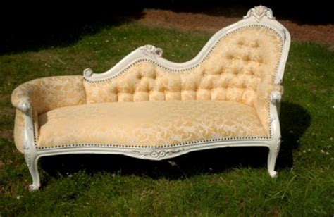 white shabby chic chaise lounge antique white shabby chic sofa chaise longue lounge ebay