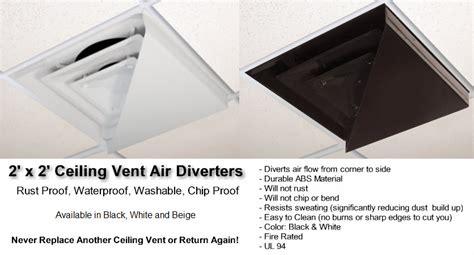 Drop Ceiling Air Vent Deflector by Moisture Resistant Ceiling Tiles