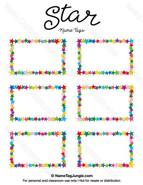 printable name labels for preschool free printable star name tags the template can also be