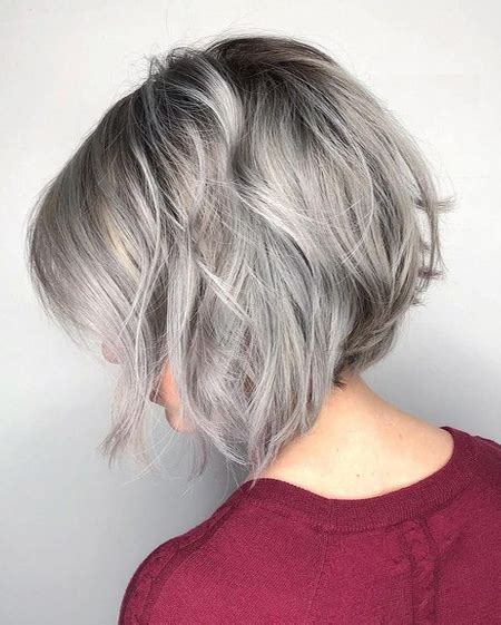 angled bob elderly silver angled bob hairstyles ideas for spring 2018