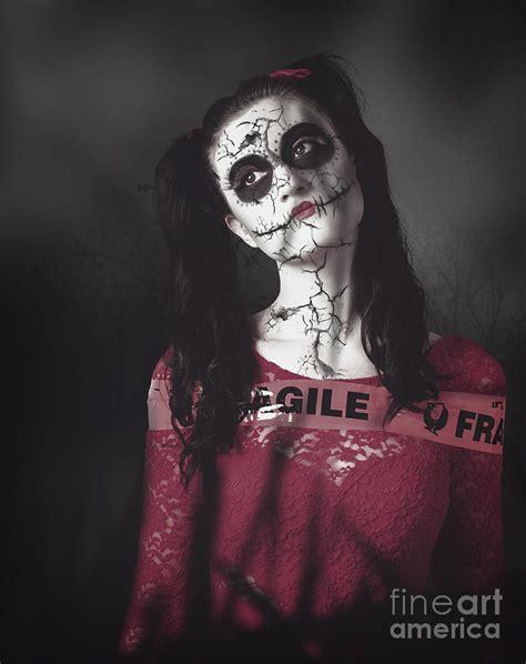 haunted doll walking sugar skull doll walking in a dead haunted forest
