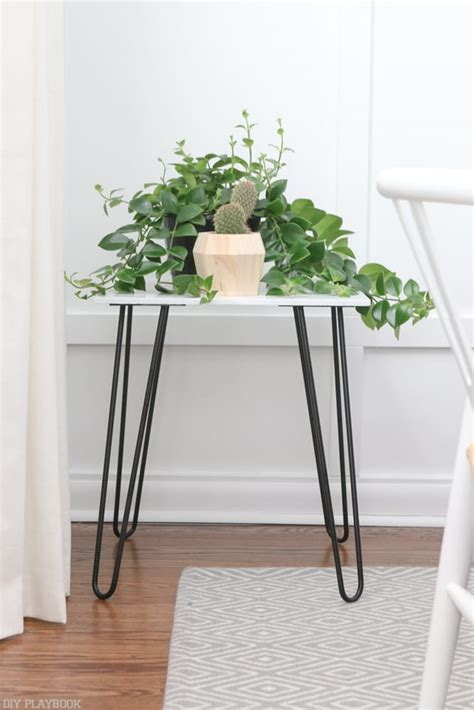 diy side table hairpin legs how to build a marble side table with hairpin legs the diy playbook