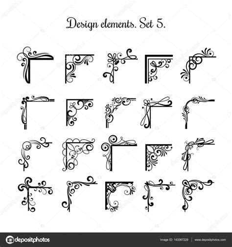 vintage design elements corners vector free download victorian flourish corners isolated on white background