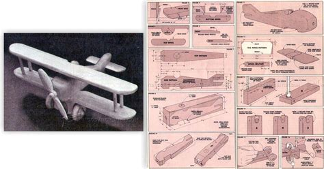 wooden biplane plans woodarchivist