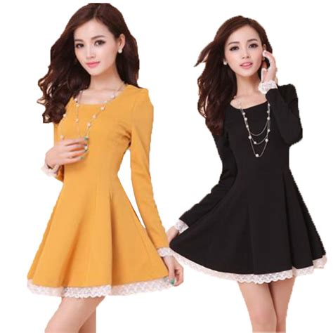 Dress Mini Korean 2015 new fashion korean mini skater dress