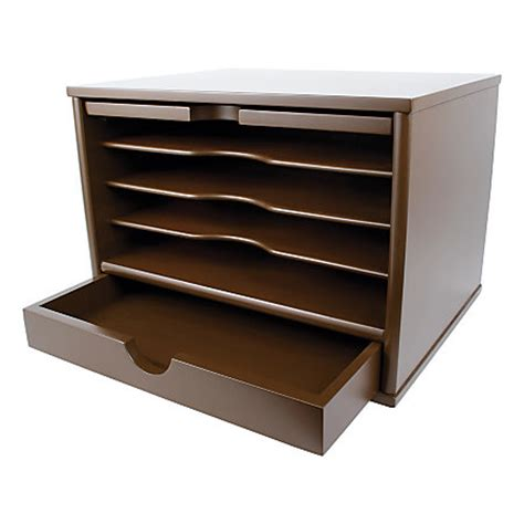Office Depot Desk Organizer Victor Desktop Organizer 9 34 H X 14 W X 10 34 D Mocha Brown By Office Depot Officemax