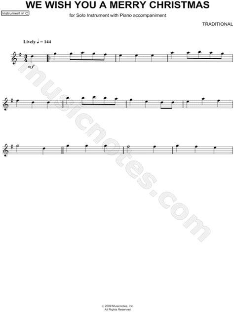 traditional english carol     merry christmas  instrument sheet  flute