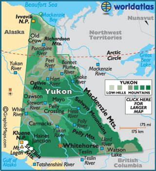 map of the yukon territory in canada map of yukon territory