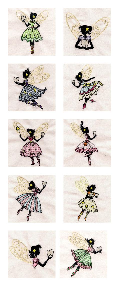 embroidery design tooth fairy machine embroidery designs tooth fairies set