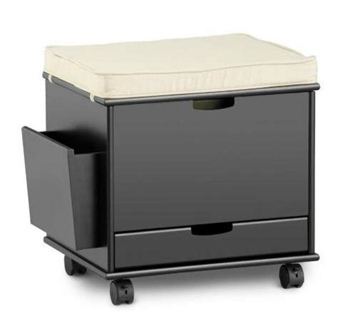 Rolling Storage Ottoman Craft Home Office Rolling Storage Cart File Cabinet Ottoman Furniture 4 Colors Desks Home