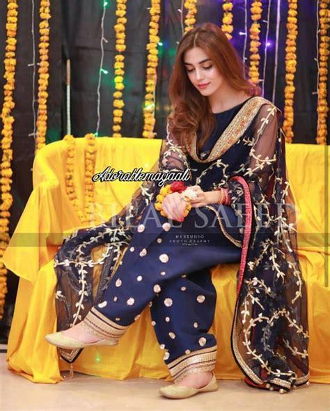 Casual Simple Mehndi Dresses