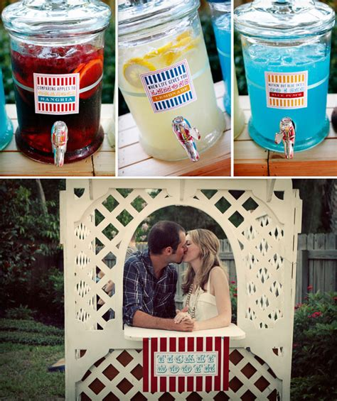 backyard engagement party ideas a carnival themed backyard engagement party green